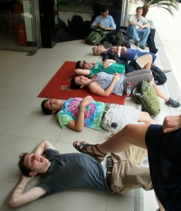 Some fellow Trainees relaxing during break time.